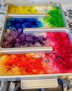 Long Gradient Yarn Dyeing