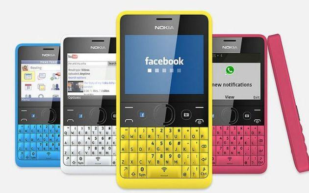 Nokia Asha 210 avec bouton raccourci WhatsApp