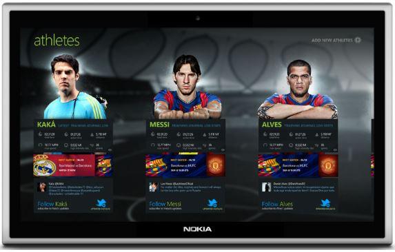 maquette application Adidas avec tablette logo Nokia