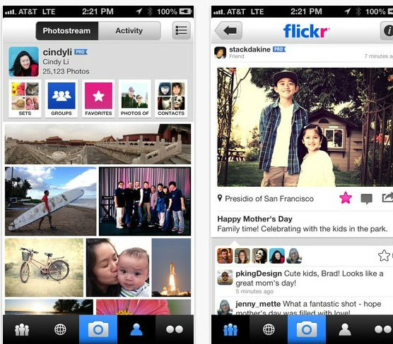 Flickr application iOS