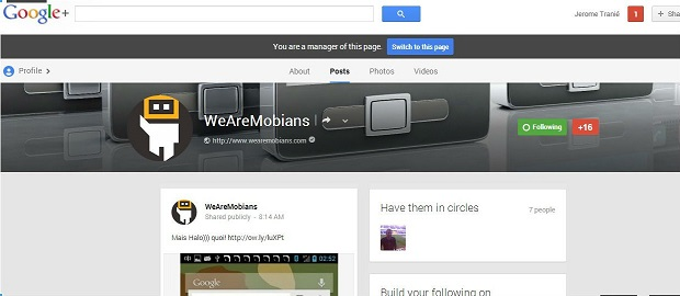 page Google+ WeAreMobians