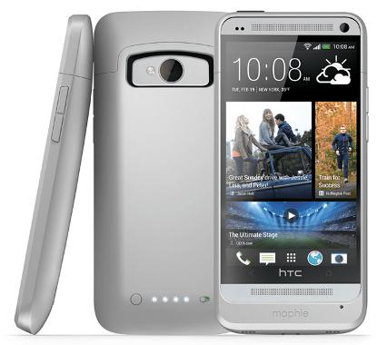 Coque batterie Mophie Juice Pack 2500mAh pour HTC One