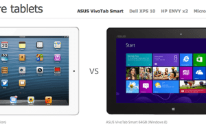 Pub comparative Tablette windows 8 contre iPad