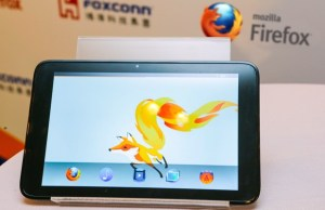 prototype de tablette Foxconn sous Firfefox