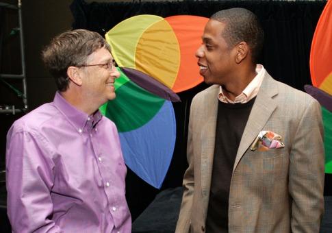 Jay Z s'intéresse aux technologies mobiles ici avec Bill Gates