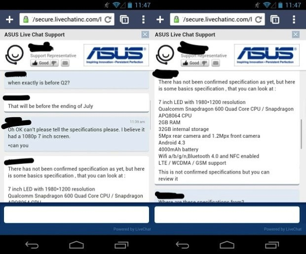 chat support client Asus