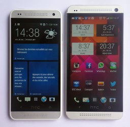 différence de taille écran entre le One et le One Mini