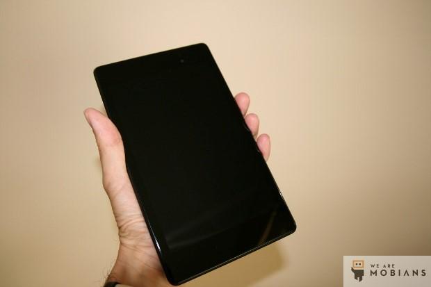 face et écran du Nexus 7