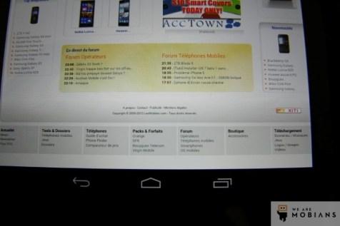 écran Nexus 7 version 2013