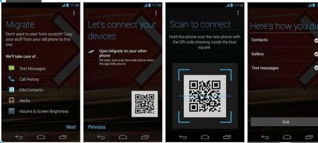 Motorola Migrate, l'application pour transférer ses données lorsque l'on achète un nouveau smartphone