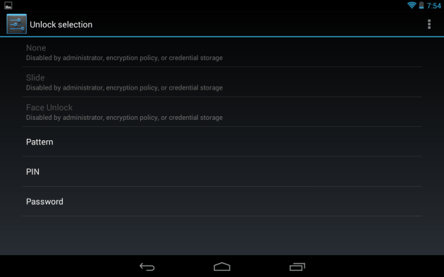 code de protection Android