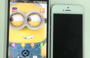 Sony Honami à côté de l'iPhone 5