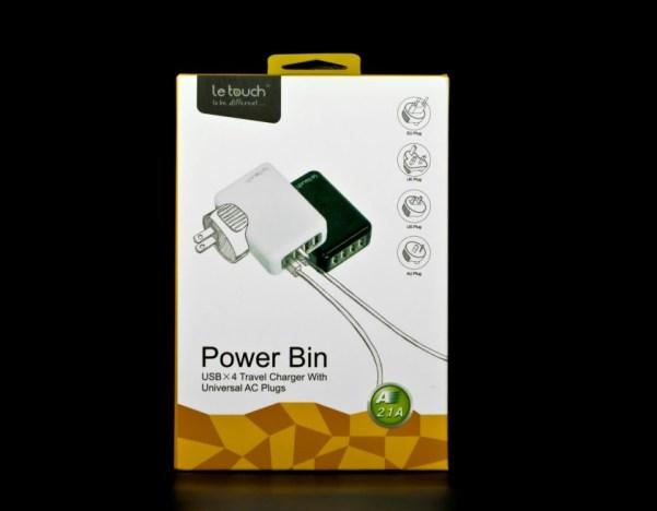 chargeur de voyage 4 ports USB dans sa boite