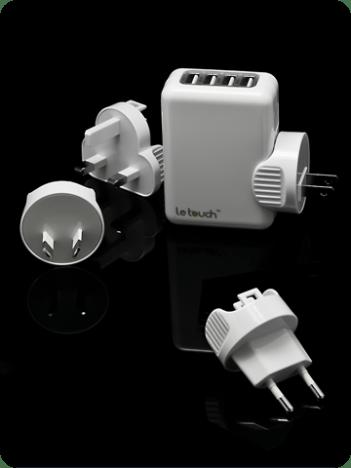 chargeur de voyage avec 4 adaptateurs de prises électriques