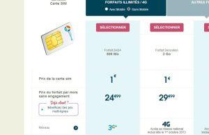 Offre 4G hez Bouygues Telecom carte SIM seulement