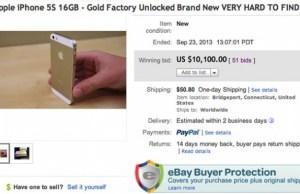 enchère eBay, iPhone 5S vendu 10.000 dollars