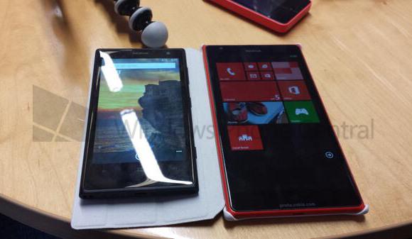 Lumia 1020 à gauche et Lumia 1520 à droite
