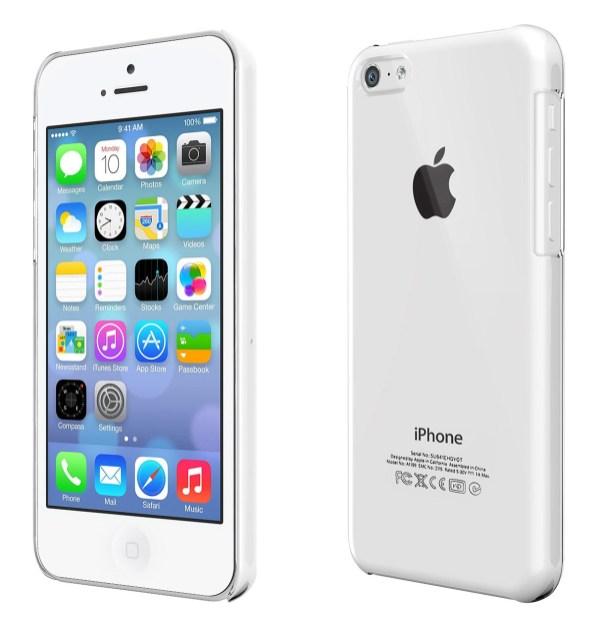 coque transparente sur iPhone 5C blanc
