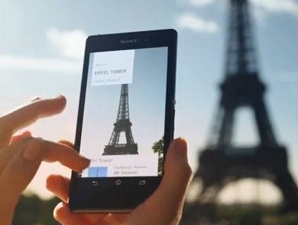 Sony Xperia Z1 avec reconnaissance des images en utilisant la fonction info-eye