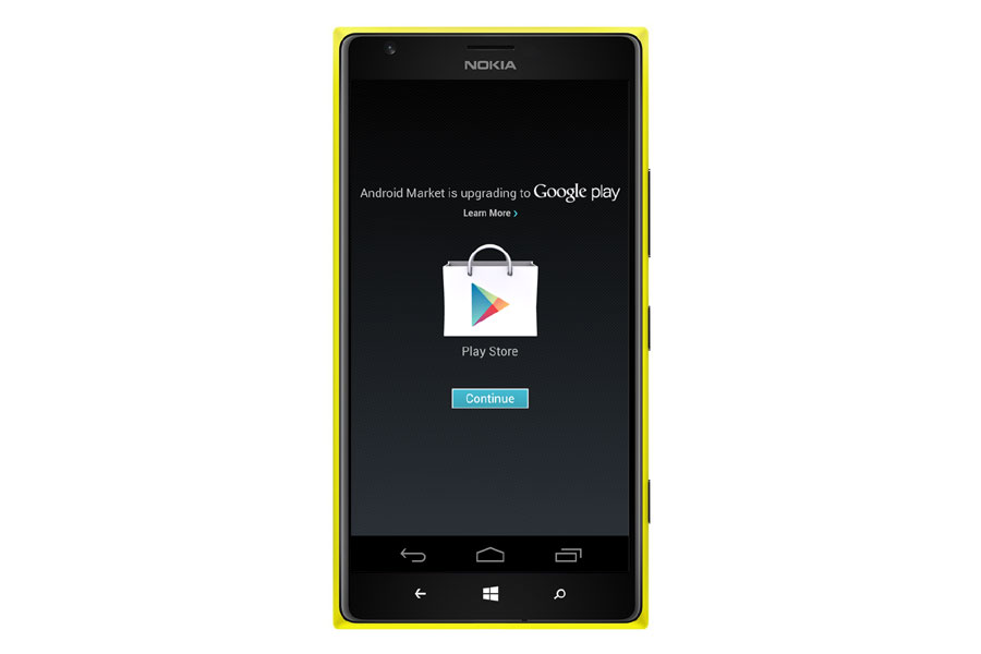 Installer une appli android sur windows phone