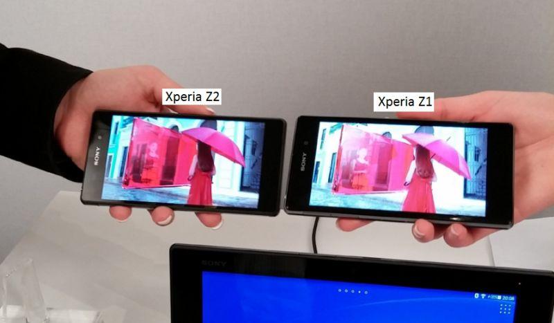 Sony Xperia Z2 et Sony Xperia Z1