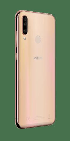 Wiko_MWC2019_View-3_Blush-Gold_3Quart-Back_HD