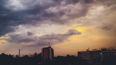 thunderstorm sky from my window