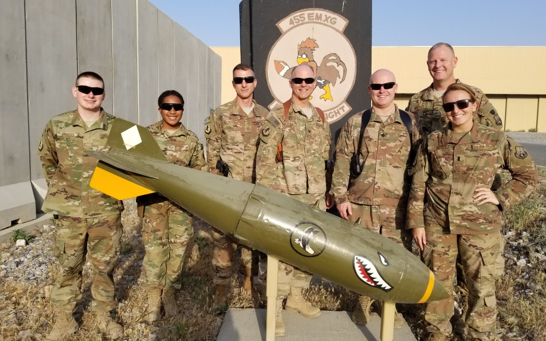 Airmen in the 455th Expeditionary Maintenance Group Receive OSD Supply Drop