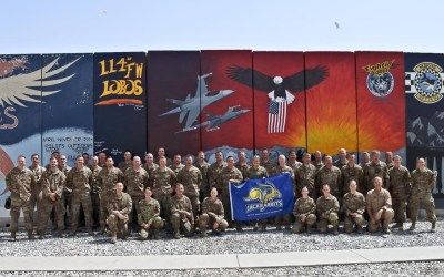 Deployed Airmen of the 455th Expeditionary Maintenance Group Enjoying OSD Supply Drop