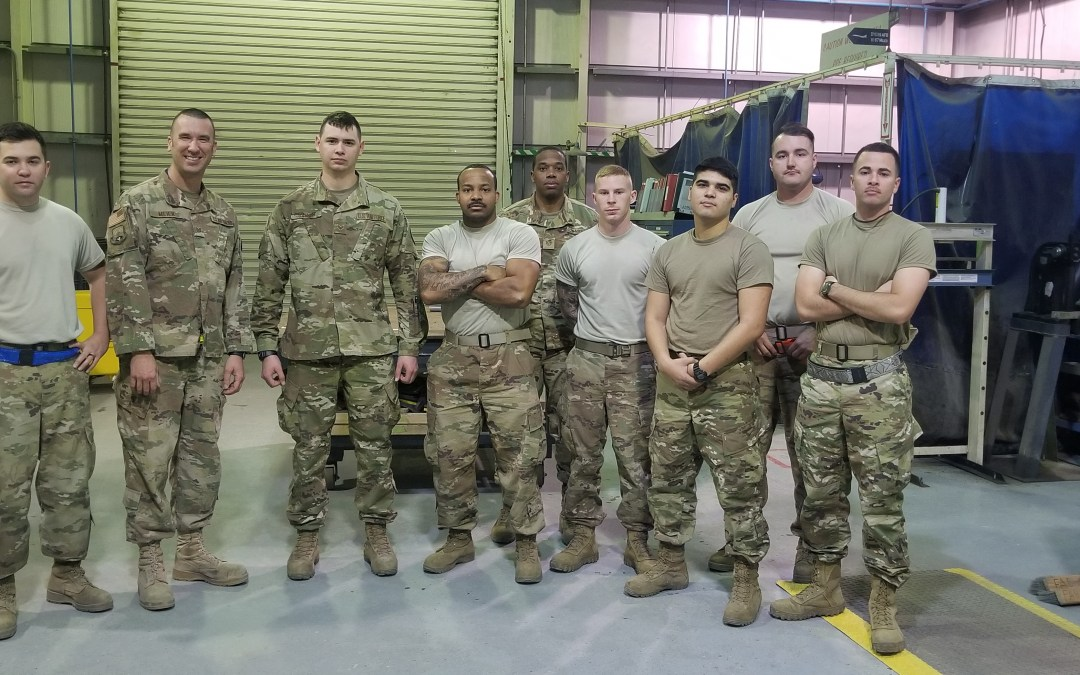 380th Expeditionary Maintenance Squadron Deployed from Tinker Air Force Base Receives OSD Supply Drop