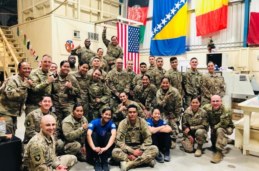 Soldiers Deployed from Ramey Air Base Recieve OSD Supply Drop