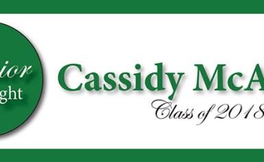 Senior Spotlight – Cassidy McAlpine