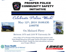 Prosper Police Department's Community Safety Initiative