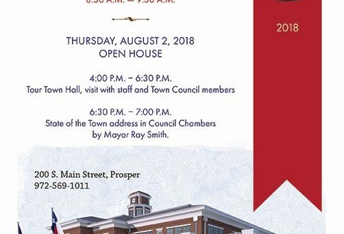 New Prosper Town Hall to have open house Aug. 2