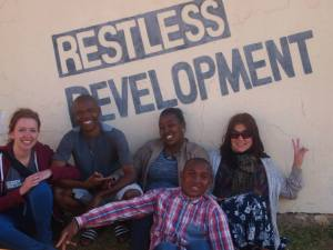 Sophie McHale on her ICS placement in South Africa earlier this year.