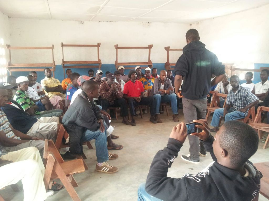 Sapateh as a Field Officer facilitating on a training of Community Champions as a sustainability drive to the Ebola Response-SMAC impacts In Kamaranka- Gbanti kamaranka Chiefdom, Bombali District.  In December 2015