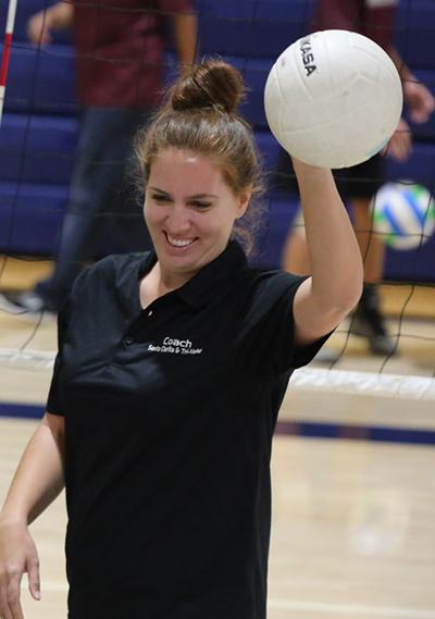 Volleyball coach Taylor Schubert