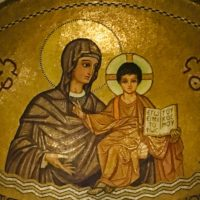 Apse icon from Dormition Abbey in Jerusalem