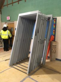 Frames have arrived for the new interior doors.
