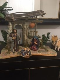 My mother bought this Italian nativity scene the Christmas after my father died in 1979. She didn't say it, but I thought of it as my Dad's Christmas gift to her. Now they're both gone, and it reminds me how they both gave thoughtful gifts. Linda C.