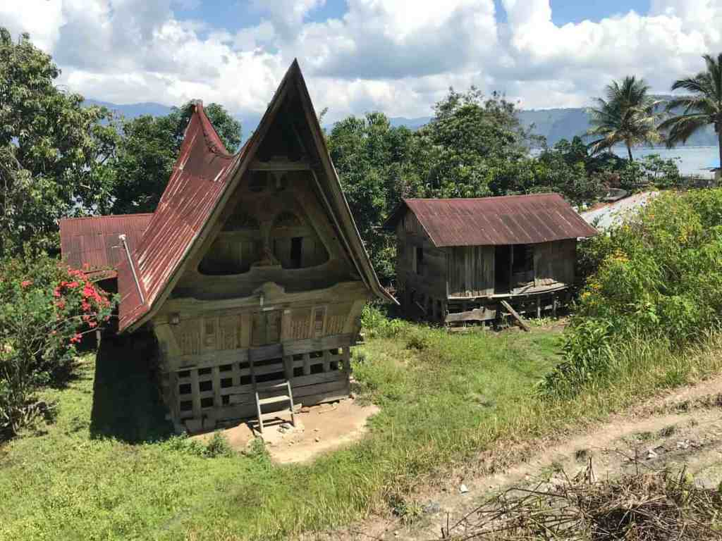 Batak house in Lake Toba
