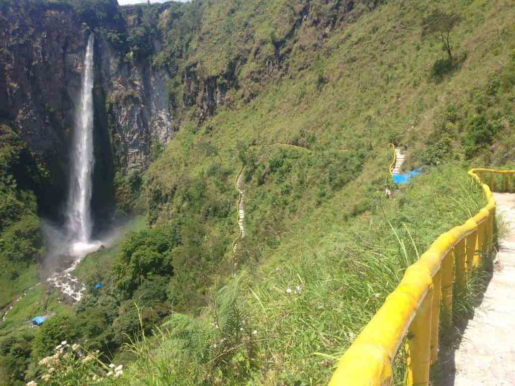 Sipisopiso Waterfall Lake Toba