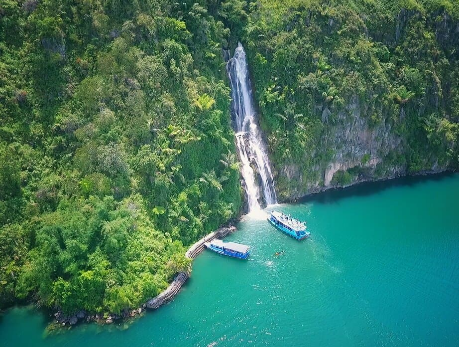 Binangalom Waterfall Lake Toba