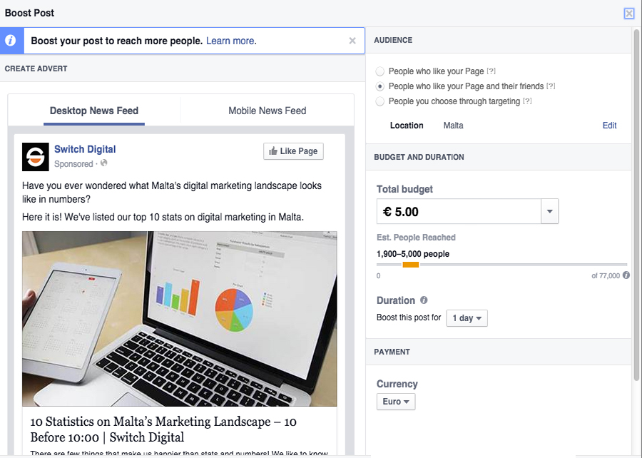 Introduction to online advertising Facebook