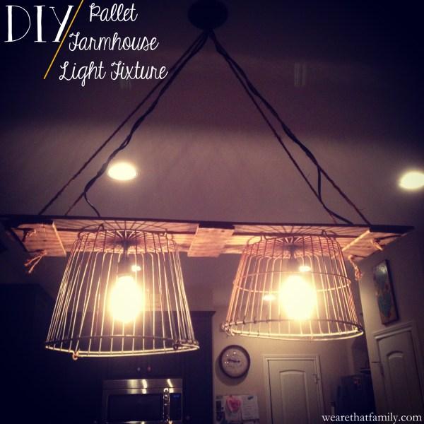 pallet farmhouse light fixture