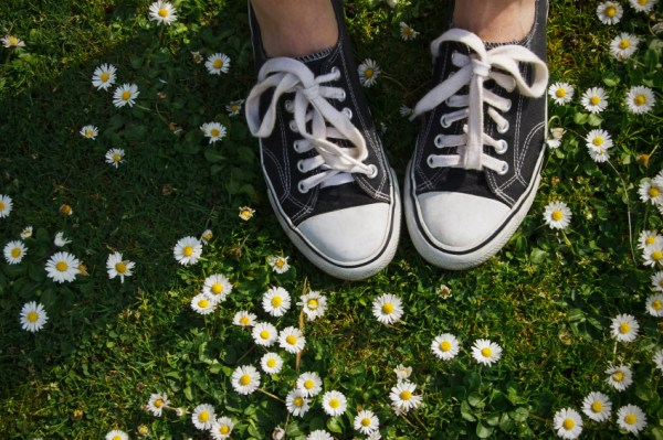 Sneakers and Mini Daisies