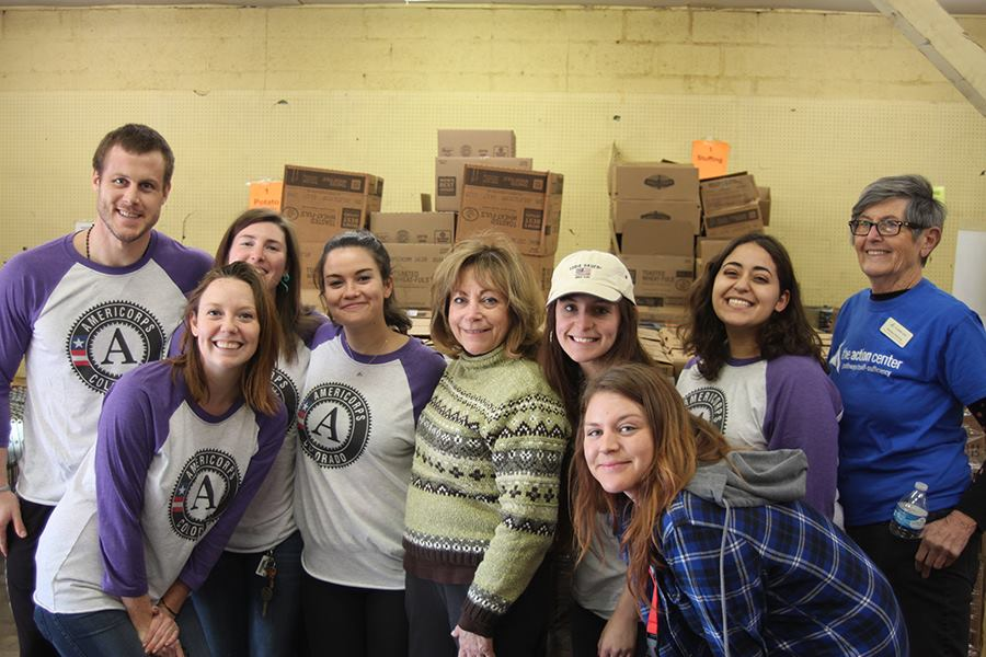 AmeriCorps Team on MLK Service Day with CO Lt. Governor