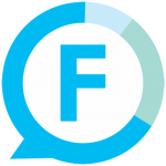 FitCircle Logo - A blue F surrounded by a blue circle