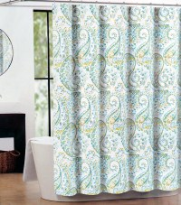 Light Blue Polyester Shower Curtain Q1225800200001 - Light ...