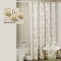 White Daisy Shower Curtain Hooks - Curtain Designs